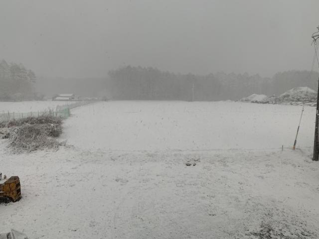 4月2日朝から雪