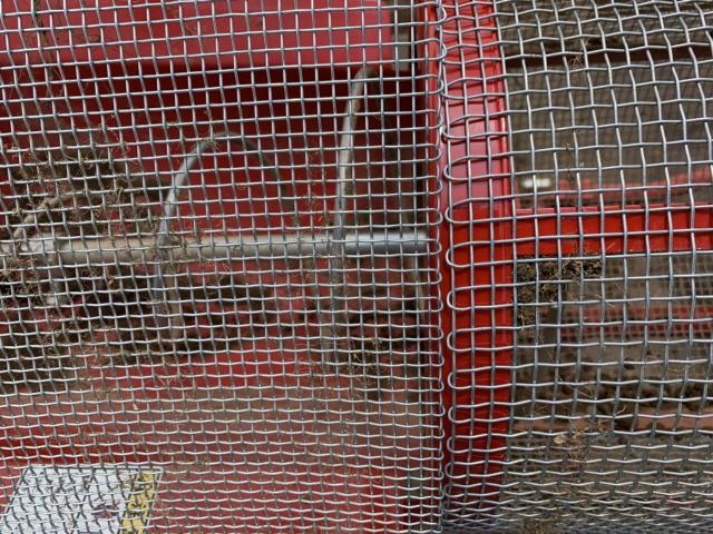 回転ふるい機の網の4ミリと6ミリの比較