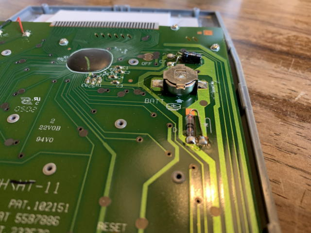 電卓の電池交換