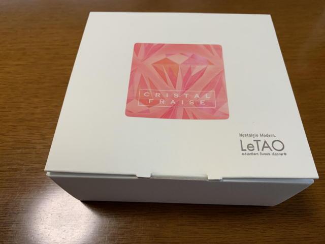 北海道の小樽にある洋菓子舗ルタオのクリスタルフレーズの外箱